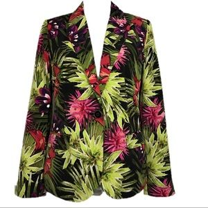 Chico's Tropical Floral Blazer Size 0 Small
